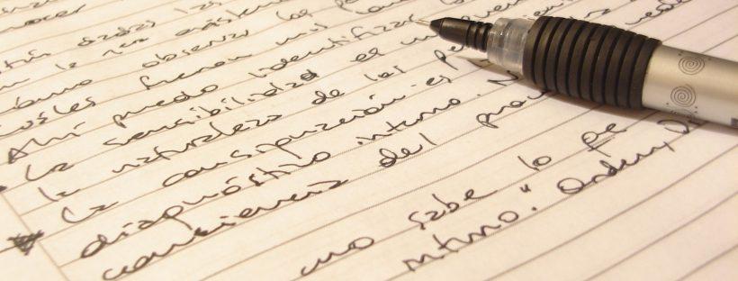 Preparing for GCSE means copious notes!
