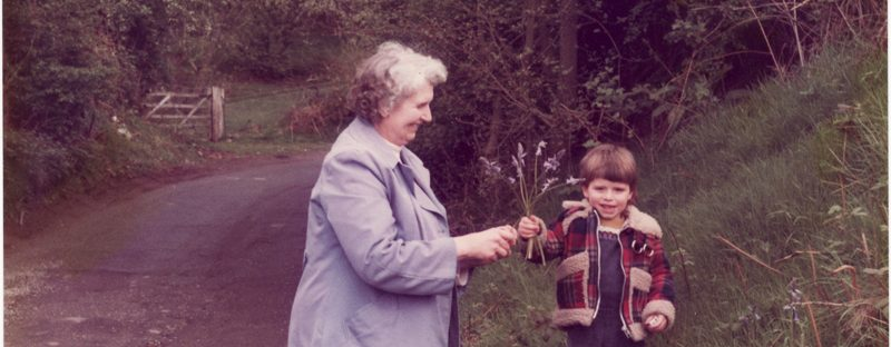 Phyllis Soley and Richard West-Soley picking flowers. My Nan - my hero.