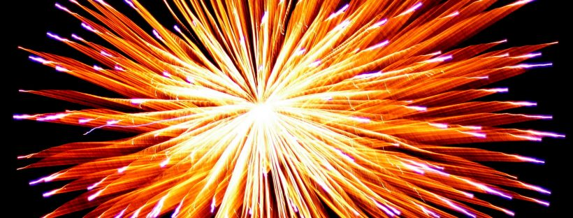 A firework mid-display! Image from freeimages.com