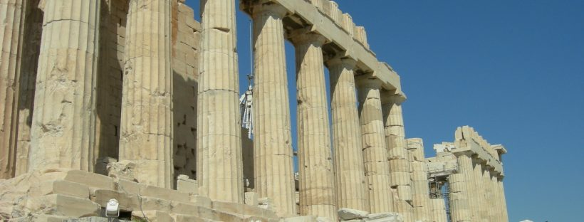 The Parthenon at the Acropolis, Athens. Image from freeimages.com.