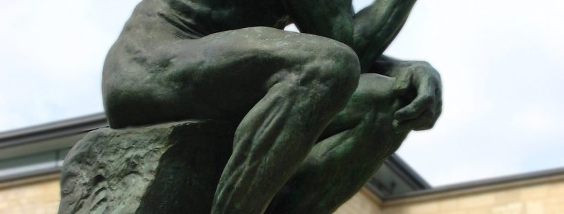 Rodin's statue The Thinker. Perhaps he is thinking about Language Learning? Image from freeimages.com.